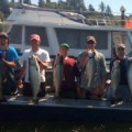 Tony Fuentes and friends with a limit of Buoy 10 chinook  - August 2011