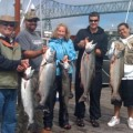 Joel Mumford and friends with chinook limit - August 2011