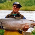 49 pound king salmon - Lake Creek, Alaska