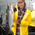 Averil Bell caught this fall chinook just below Bonneville Dam - Sep 2011