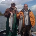 Bronec brothers with Willamette River spring chinook salmon - April 2011