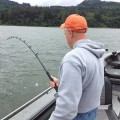 Catch & Release guided sturgeon fishing - Columbia River - July 2012