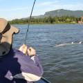 Columbia River sturgeon fishing near Portland, OR - June 2011