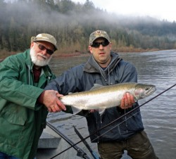 Hank with Sandy winter steelhead - Jan 2010