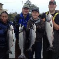 Boat limit on chinook by 8:45 a.m. 11 fish to the boat for 16 chances, Columbia River (Astoria) - Aug 2013