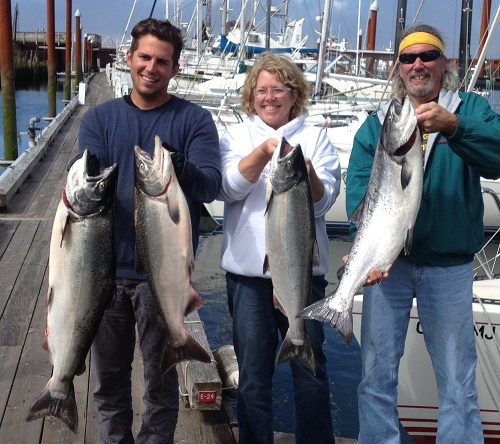 4 chinook for Tim, Kim, Derald and Sherri, Astoria - Aug 2013