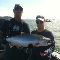 Jay Jaffe with Buoy 10 fall chinook salmon - Aug 2012