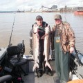 Willamette River guided sturgeon fishing - March 2011