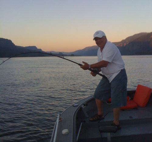 Joe Kassab - Columbia River oversize sturgeon - July 2010