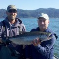 Joel Mumford with Buoy 10 fall chinook salmon - Aug 2012