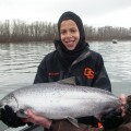 Jordan with Columbia River spring chinook salmon - March 2011