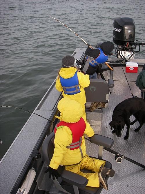Kids Birthday Party - Columbia River Sturgeon Fishing - Nov 2007