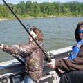 Matt and Kyler - Portland, OR sturgeon fishing - Dec 2008