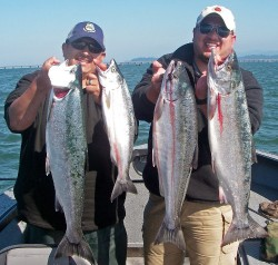 Portland's finest with coho limits at Buoy 10 - August 2009
