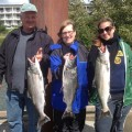 Siri family harvests 3 nice spring chinook salmon - Oregon City, Oregon