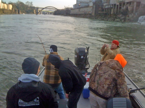Colton Boys - Willamette Falls Oversize Sturgeon - March 2010
