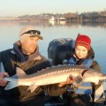 Willamette River sturgeon fishing - Portland Harbor - Dec 2012