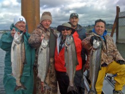 Rich family with limit of Columbia River spring chinook - March 2010